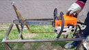 Country Life Hacking A Self Made Chainsaw Fixture For Fast Wood Sawing