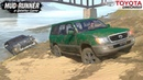 Spintires MudRunner TOYOTA LAND CRUISER 100 Pulls a Stuck Lexus out of the Water