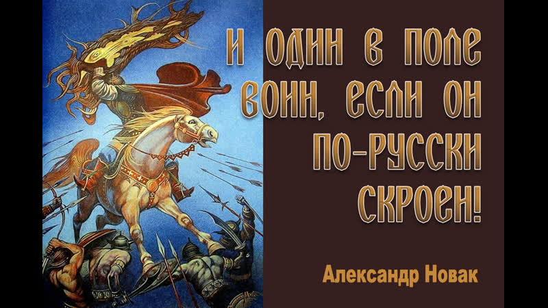И один в поле воин если он по русски скроен А Новак