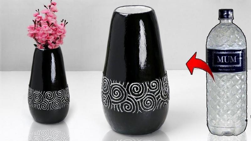 Plastic bottle flower vase making glossy ceramic flower vase making