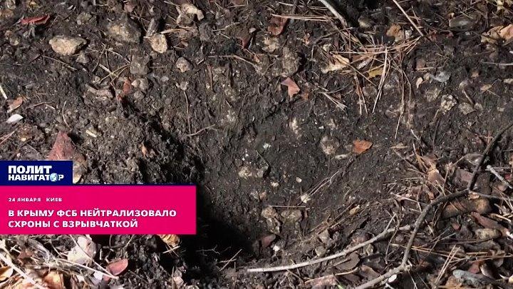 Задержан украинский диверсант, готовивший взрывы в Крыму