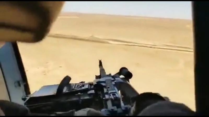 Расстрел машины Исламского государства с Ми 171