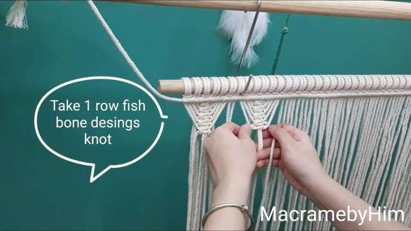 DIY Macrame Curtain Super easy fast Hướng dẫn thắt rèm macrame cực xinh siêu nhanh