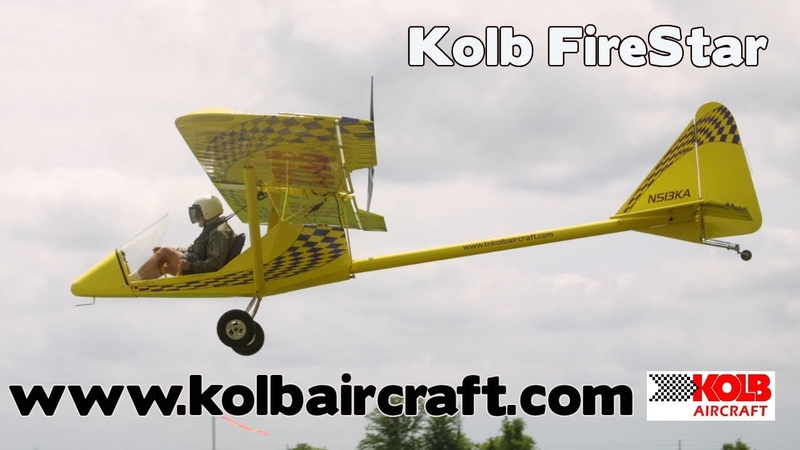 Kolb Aircraft Kolb Firestar Kolb Fire Star Experimental Aircraft Kit