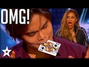 Card Magician Wows Tyra Banks on Stage America's Got Talent Got Talent Global