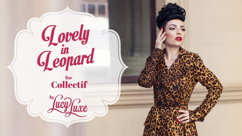 Lucy Luxe the Pinup - Daily Dress Up: Scarlett Leopard Coat by Collectif