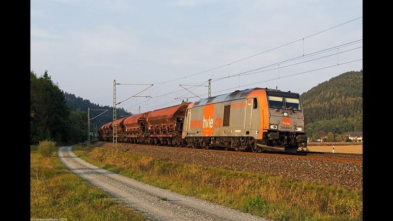 Mercitalia Rail 494 HVLE Diesel Traxx Holzroller Sonderzug uvm auf der Frankenwaldbahn