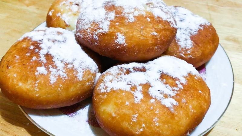 Փքաբլիթներ եփովի կրեմով Պոնչիկ Пончики с заварным кремом