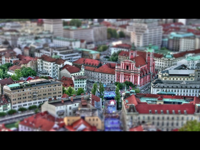 Welcome to Ljubljana - the Capital of Slovenia Basketball City (Hardcore Timelapse in HDR)