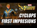 Cyclops Rank up, First Impressions Gameplay - Marvel Strike Force