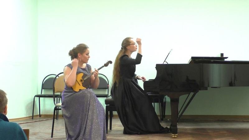Берио Балетные сцены - Анастасия Вагина (домра) , Анна Гачина (рояль)