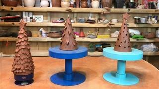 🍯 Как сделать ёлку самому? Новогодние ёлочки из глины 3 варианта Волшебство керамики
