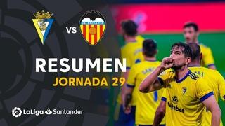 Resumen de Cádiz CF vs VALENCIA CF (2-1)