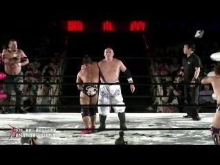 Kankuro Hoshino, Takumi Tsukamoto, Ryuichi Sekine vs. Shinobu, Tatsuhiko Yoshino, Kota Sekifuda (BJW - Death Vegas 2018)