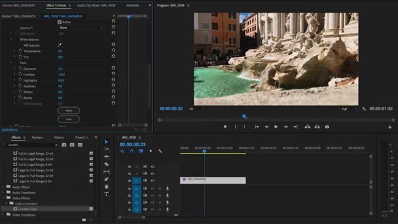 Как осветлить видео в Adobe Premiere Pro