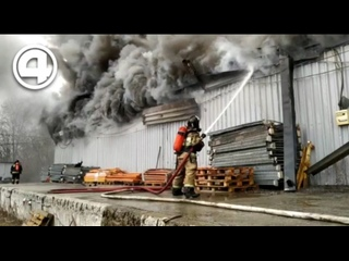 Пожар на территории Уралмашзавода