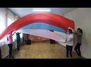 Танец с полотнами Белый,синий,красный.Танцевальный коллектив Без правил, руководитель Баранова Н.Н. село Серга