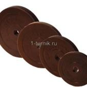 Диски для штанг 26 мм 15 кг обрезиненные