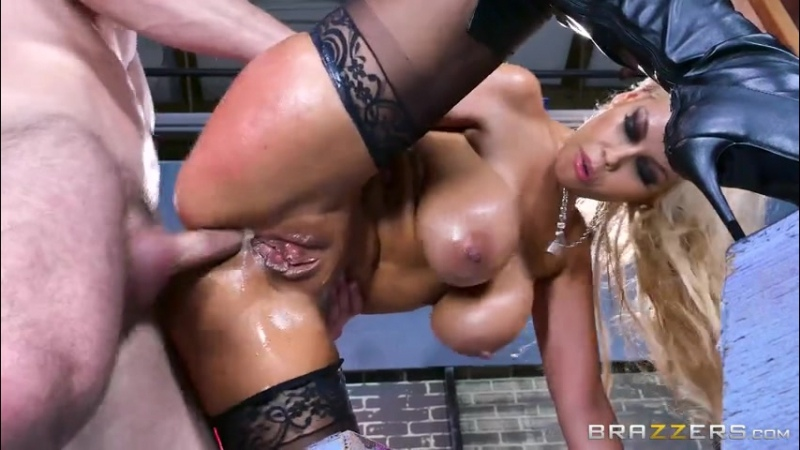 Bridgette B Anal Fucking One on One Standing Blonde Spanish Mom Oiled Busty Stockings High Heels