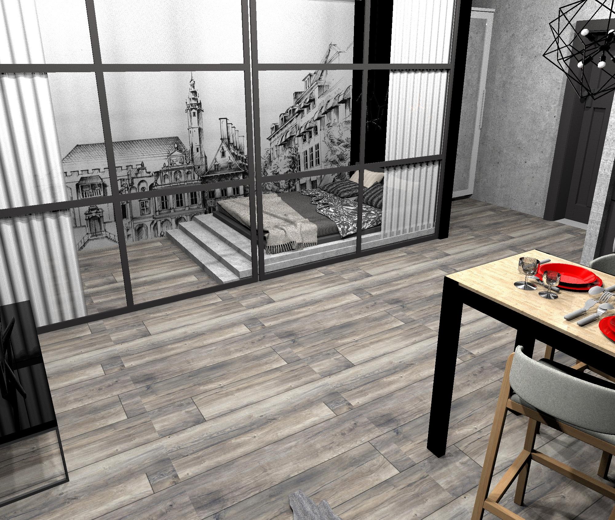 Проект квартиры-студии в стиле лофт, часть 2.