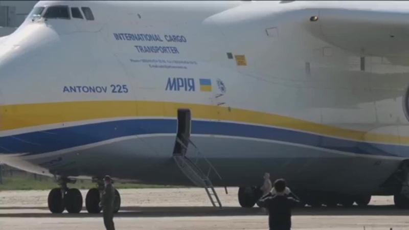 Ан 225 Мрия доставил медицинский груз из Китая в аэропорт Киев Антонов 2 6 мая