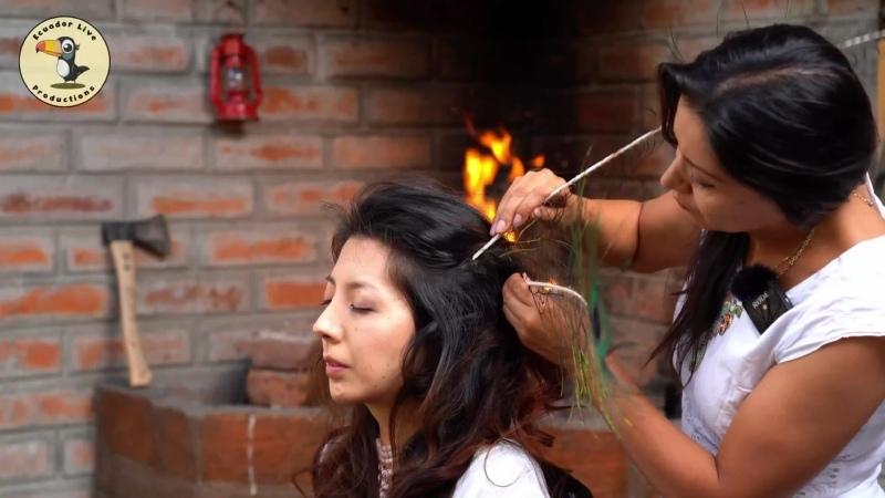 Nelly ASMR Masaje de cabeza y cuero cabelludo con palillos en una persona real en Cuenca, Ecuador