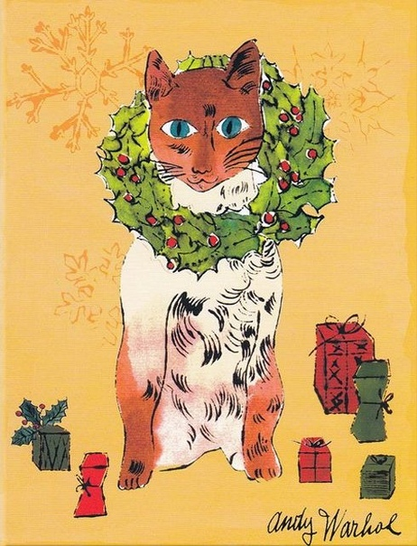 «25 котов по имени Сэм и одна голубая кошка» Энди Уорхола