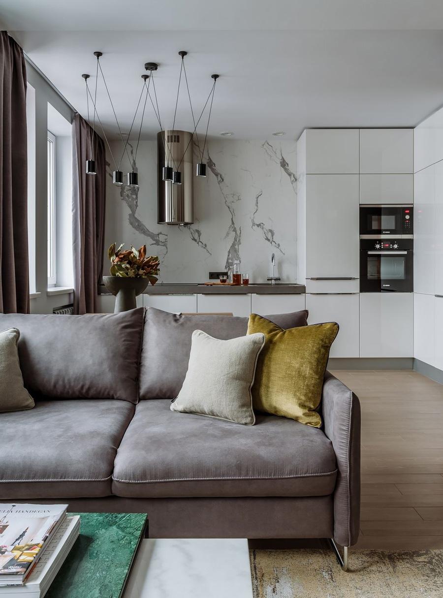 Современный дизайн квартиры 48 кв.