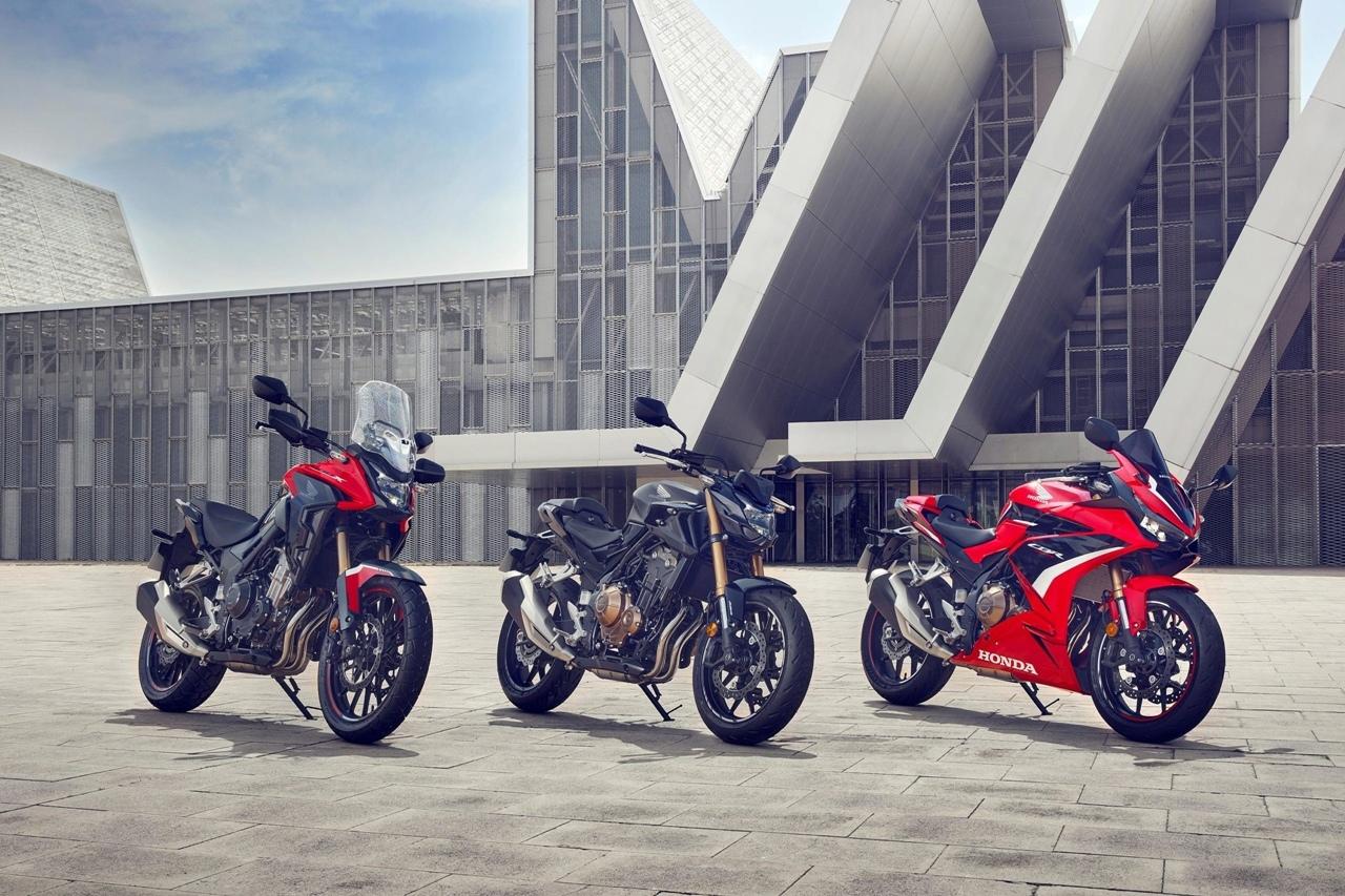 Обновленная линейка 500-кубовых мотоциклов Honda 2022: CB500F, CB500X, CBR500R