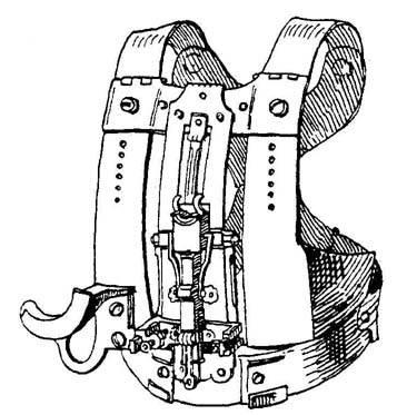 Каркас нагрудника для поединка «механический» реннен. С откидывающейся нагрудной мишенью; съемные части отсутствуют. Кон. XV в.