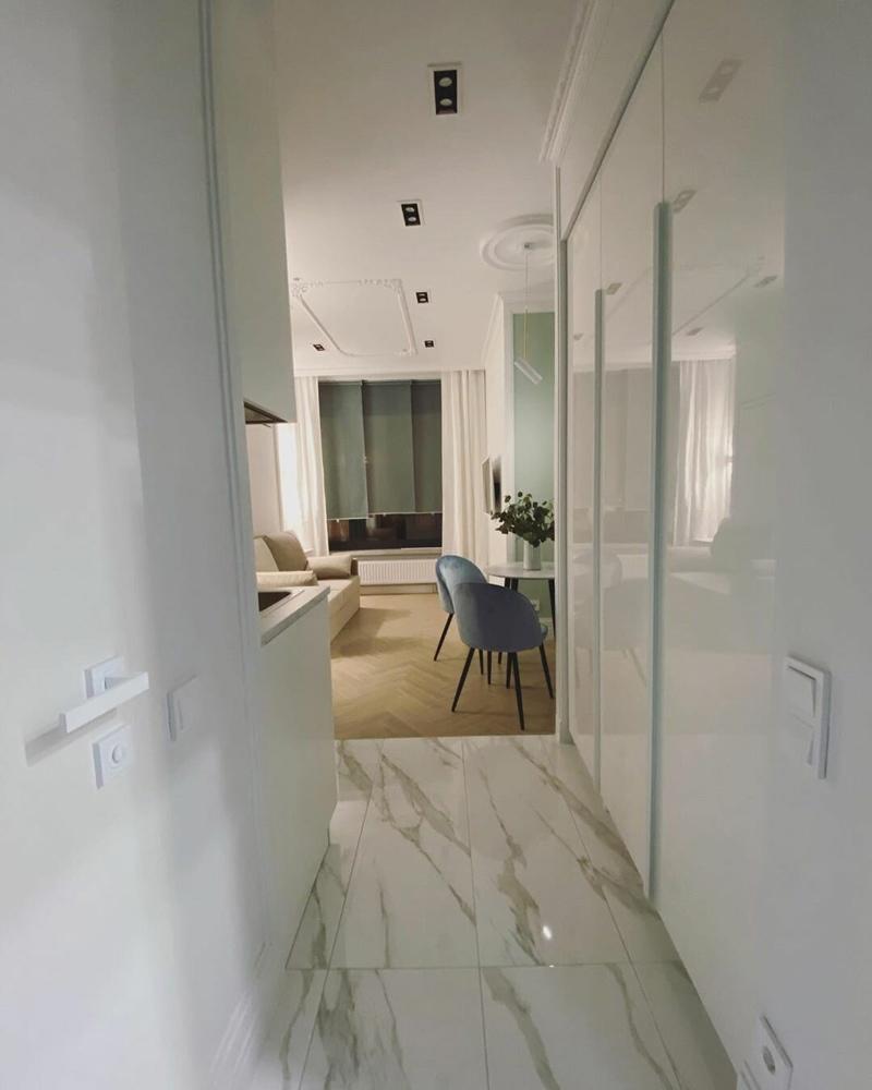 Интерьер маленькой квартиры-студии 20 кв.