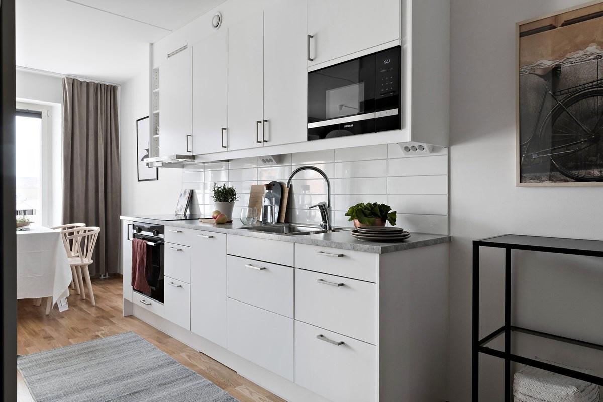 Интерьер скандинавской квартиры-студии 35 кв.