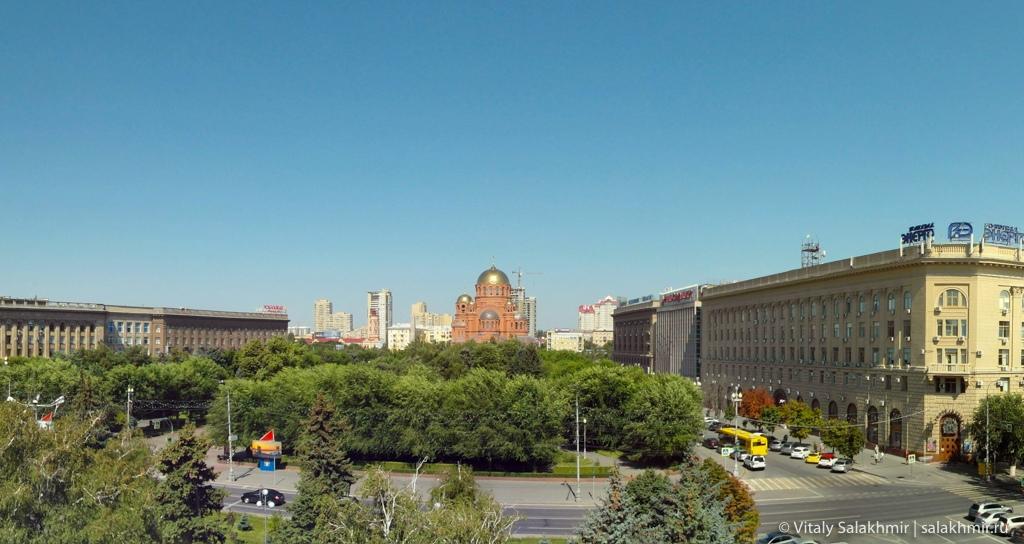 Панорама проспекта Ленина в Волгограде