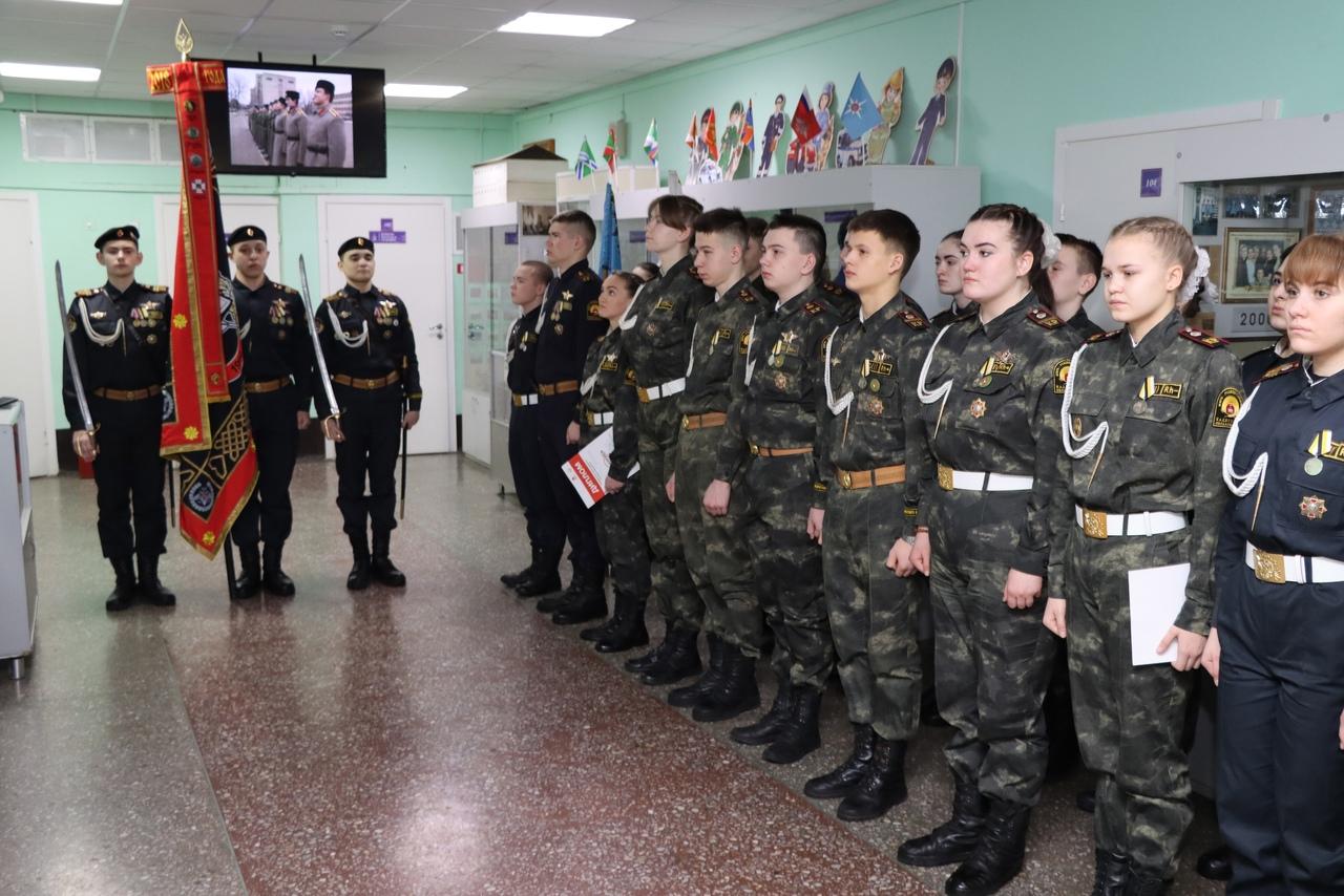 В Мотовилихе отряд военкоров «ФЕНИКС» им. Адмирала П.С. Нахимова отметил День российского кадета
