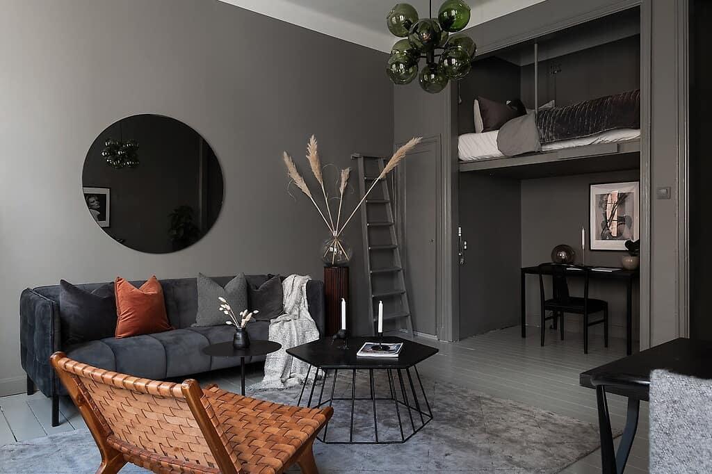 Скандинавская квартира-студия 36 кв.