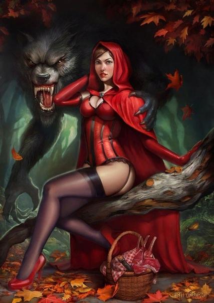 О чем рассказывается в детских сказках на самом деле. Красная Шапочка. В оригинале Красная Шапочка носила вовсе не шапочку, а шаперон накидку с капюшоном. У Перро она разгуливала именно в