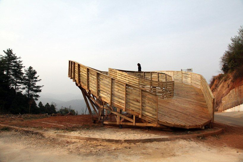 the sweep observation deck by olivier ottevaere   john lin in china