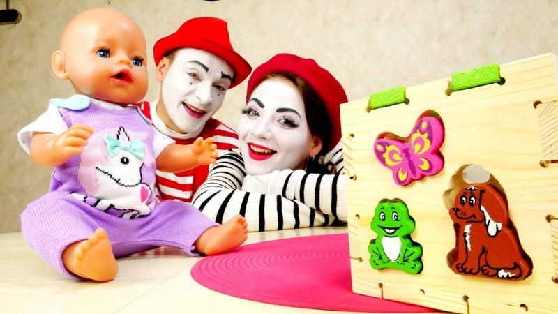 Кукла Беби Бон в видео онлайн Сортер для Baby Born Новые игрушки в мультике для детей