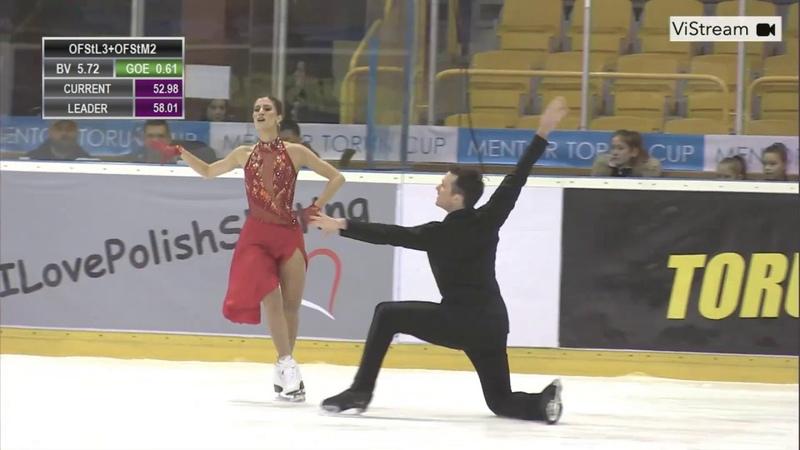 Tina GARABEDIAN Simon PROULX SENECAL ARM Free Dance 2020 Mentor Torun Cup