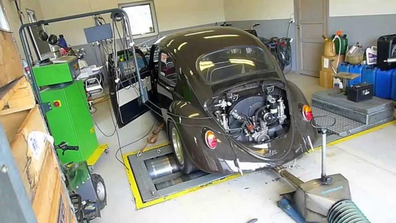 Final Dyno run VW 1776cc 198hp @ 7630 rpms