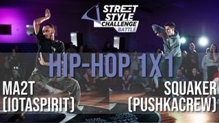 Squaker (pushkacrew) vs Ma2t (iotaspirit) | Hip-Hop 1x1 Final | Street Style Battle 2k20