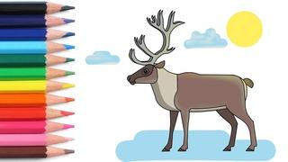 Алфавит для детей учим буквы весело мультики раскраска как нарисовать оленя азбука простые слова