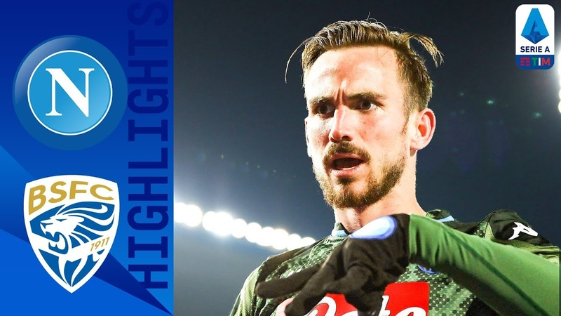 Brescia 1 2 Napoli Fabian Wonderstrike And Insigne Pen Sees Napoli Win From Behind Serie A TIM
