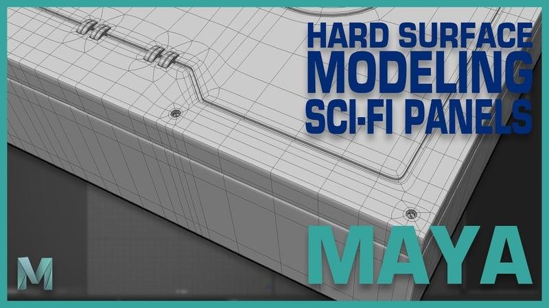 Hard Surface Modeling Sci-Fi Panels in Maya 2018