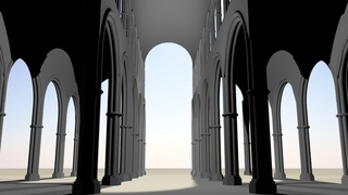 Maya 2014 tutorial : Modeling the basic structure of a cathedral or church