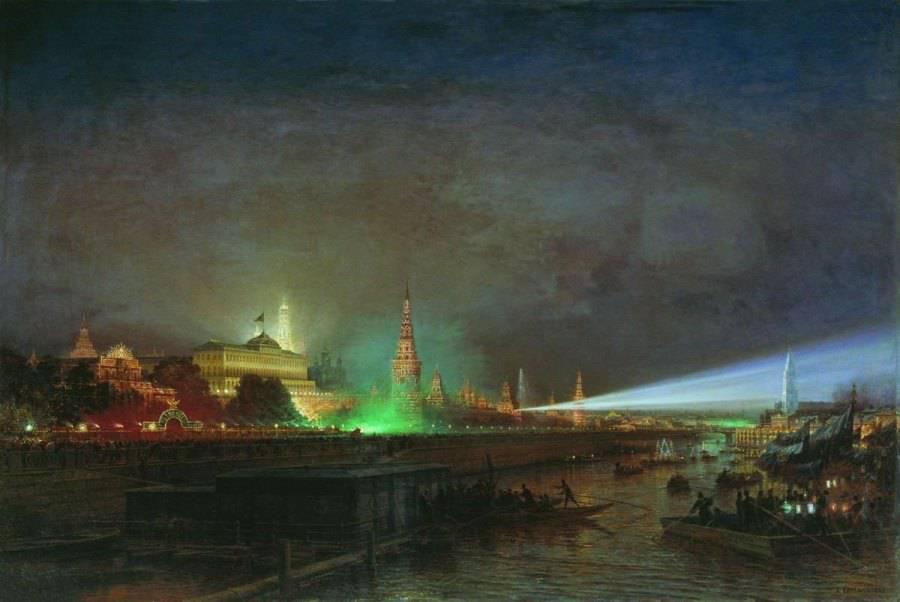 иллюминация москва 18 век