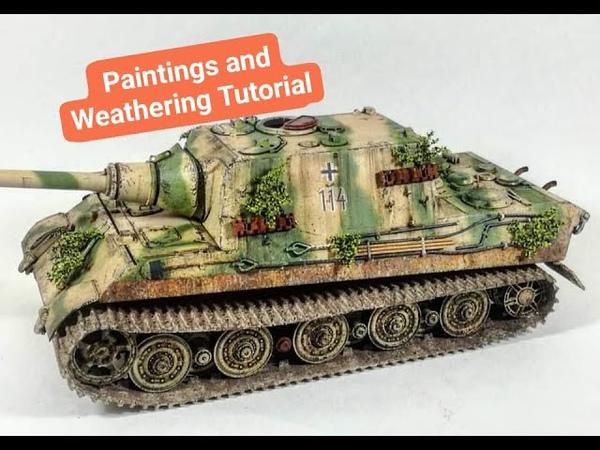 Paintings and weathering tutorial jagdtiger tamiya 1 35