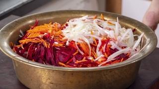 """Этот салат вы будете есть всю зиму. Салат из капусты """"Кремлевская Хряпа"""". Любимый салат Брежнева"""