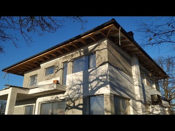 Дом среди дубов в живописном месте утепление пенопластом под декоративную штукатурку и клинкер