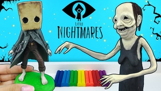 Моно и Бабуля из игры Маленькие Кошмары (Little Nightmares 2) | Лепим фигурки из пластилина